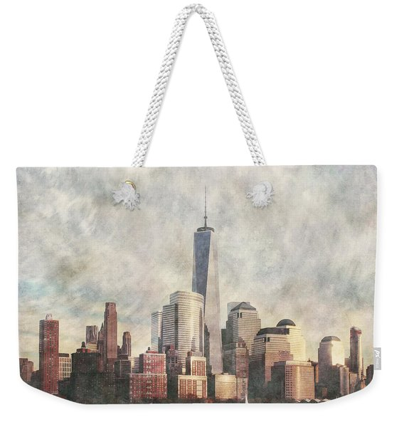 New York City Skyline Including The World Trade Centre Weekender Tote Bag