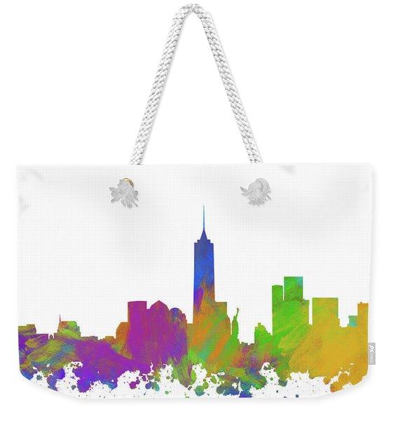 New York City Skyline Silhouette V Weekender Tote Bag
