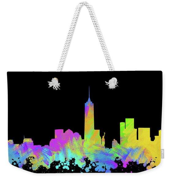 New York City Skyline Silhouette Vi Weekender Tote Bag