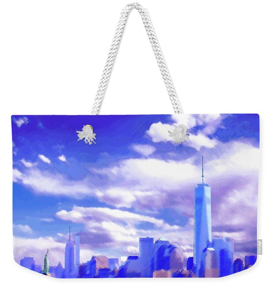 New York City Skyline With Freedom Tower Weekender Tote Bag