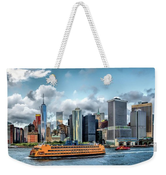 New York City Staten Island Ferry Weekender Tote Bag