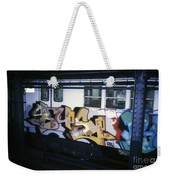 New York City Subway Graffiti Weekender Tote Bag