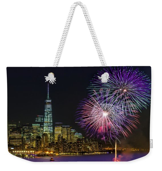 New York City Summer Fireworks Weekender Tote Bag