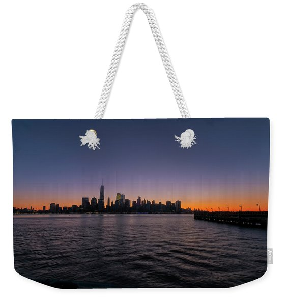 New York City Sunrise Weekender Tote Bag