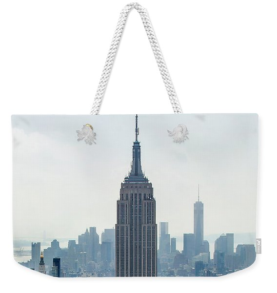 New York Classic View With Text Weekender Tote Bag