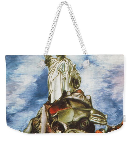 New York Liberty 77 - Fantasy Art Painting Weekender Tote Bag
