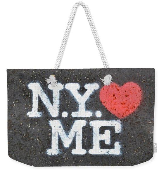 New York Loves Me Stencil Weekender Tote Bag
