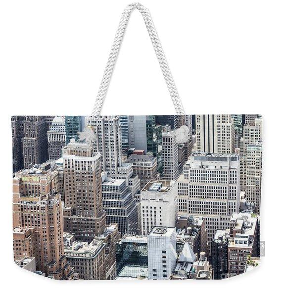 New York Midtown Weekender Tote Bag
