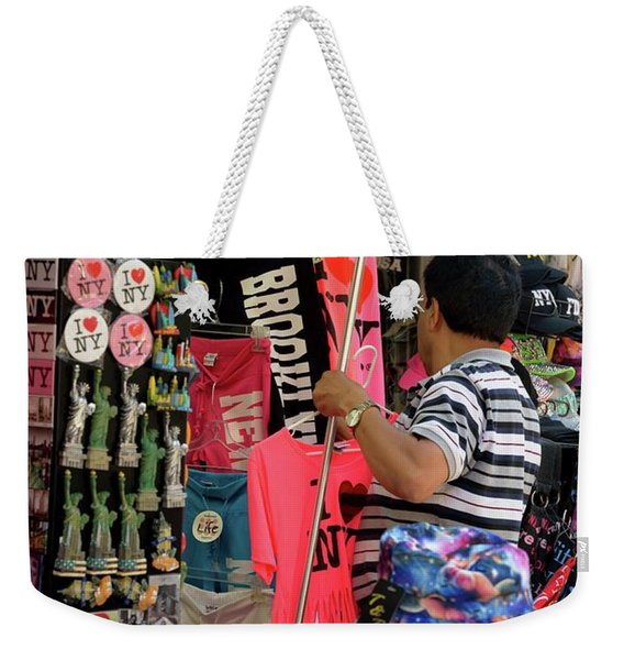 Weekender Tote Bag featuring the photograph New York, New York 14 by Ron Cline
