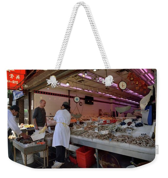 Weekender Tote Bag featuring the photograph New York, New York 17 by Ron Cline