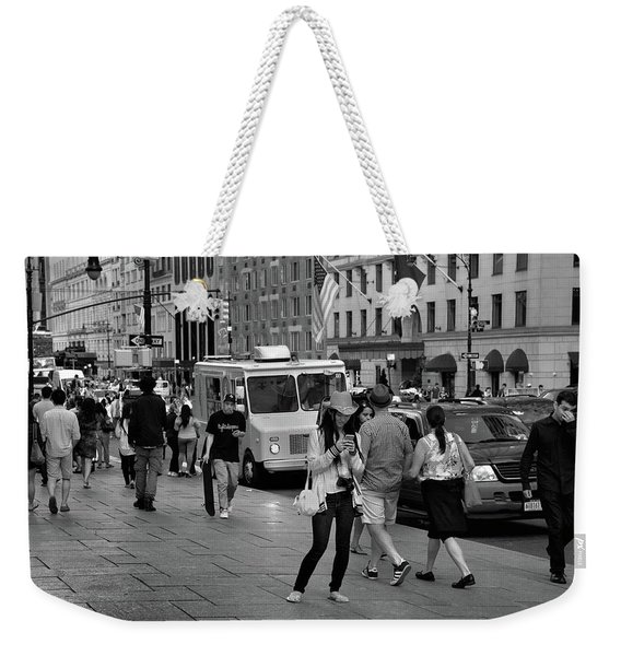 Weekender Tote Bag featuring the photograph New York, New York 19 by Ron Cline