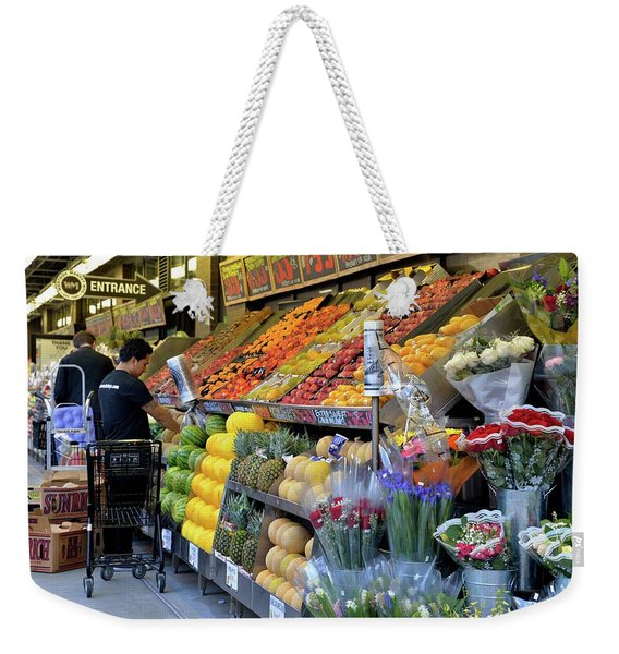 Weekender Tote Bag featuring the photograph New York, New York 21 by Ron Cline