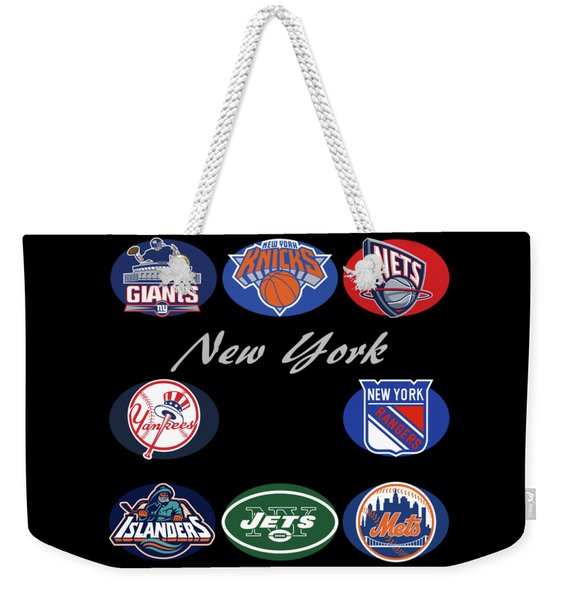 New York Professional Sport Teams Collage  Weekender Tote Bag