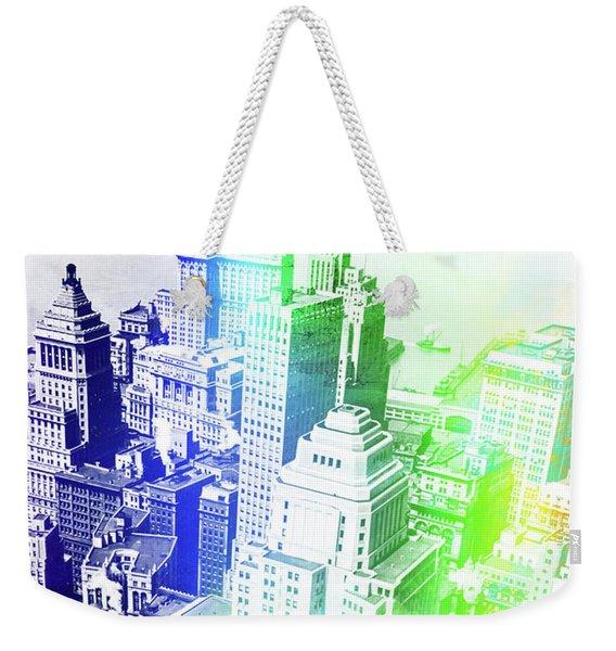 New York Rooftops Watercolor Weekender Tote Bag