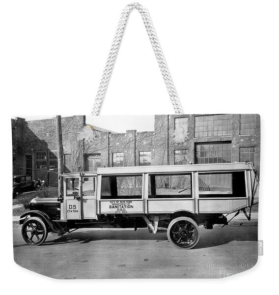 New York Trash Truck Weekender Tote Bag