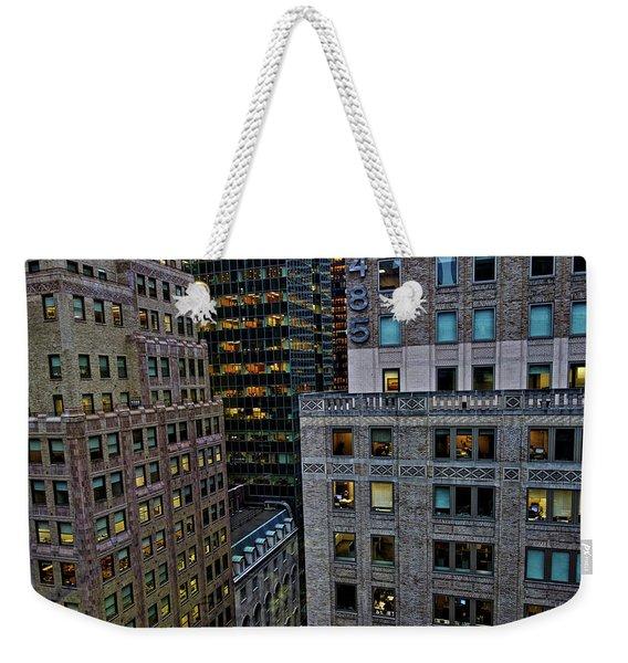 New York Windows Weekender Tote Bag