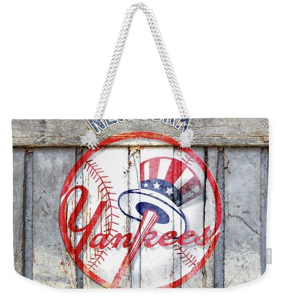 New York Yankees Top Hat Rustic Weekender Tote Bag