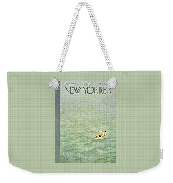 New Yorker September 5 1959 Weekender Tote Bag