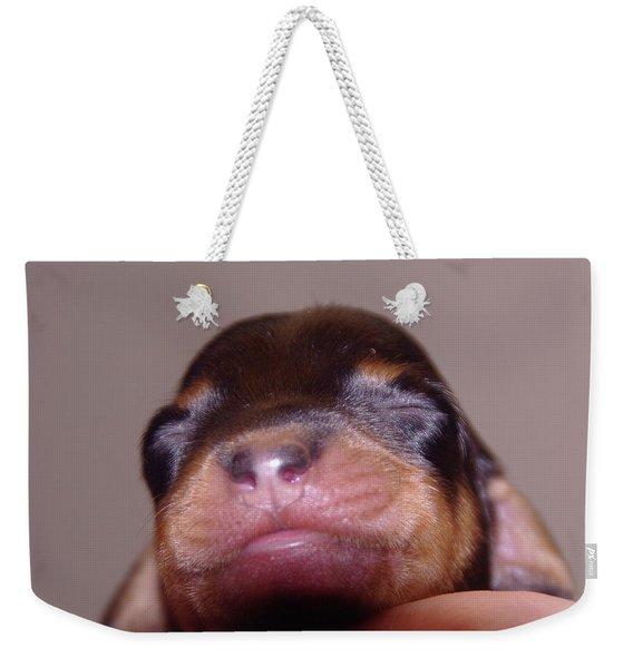 Newborn Puppy   Weekender Tote Bag