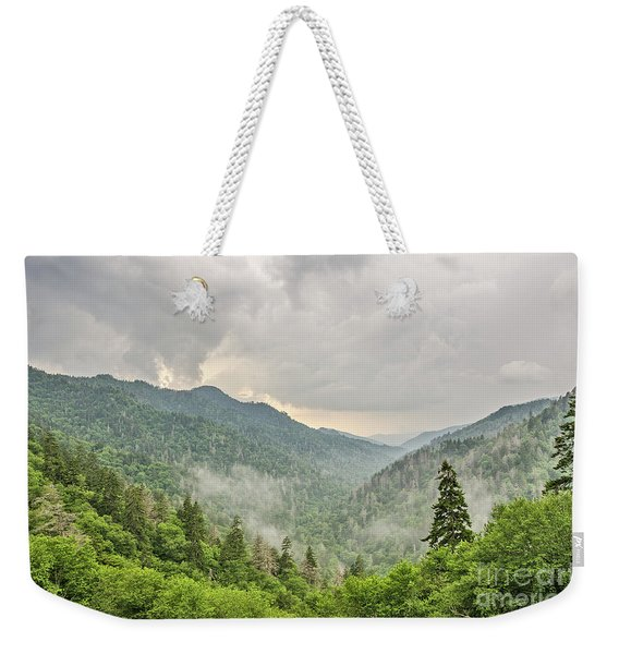 Newfound Gap In Great Smoky Mountains National Park Weekender Tote Bag