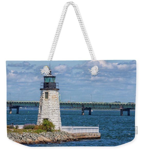Newport Harbor Lighthouse Weekender Tote Bag
