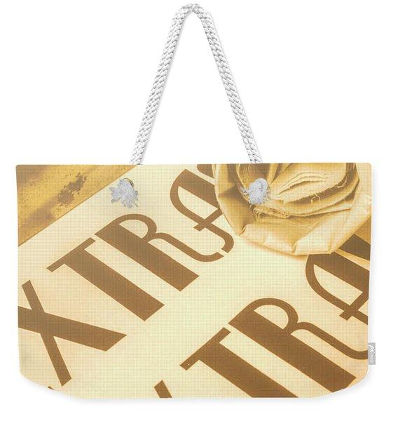 News In Detail Weekender Tote Bag