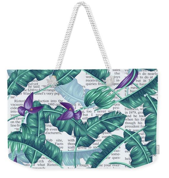 News Of Tropical  Weekender Tote Bag