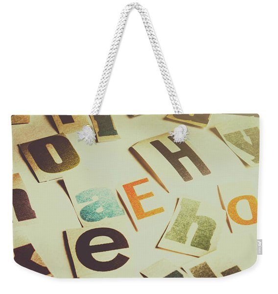 News Scramble Weekender Tote Bag