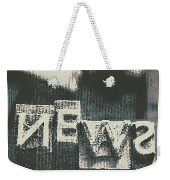 Newspaper Printing Press Art Weekender Tote Bag