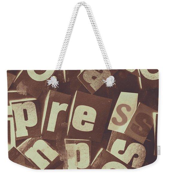 Newsprint Journalism Weekender Tote Bag