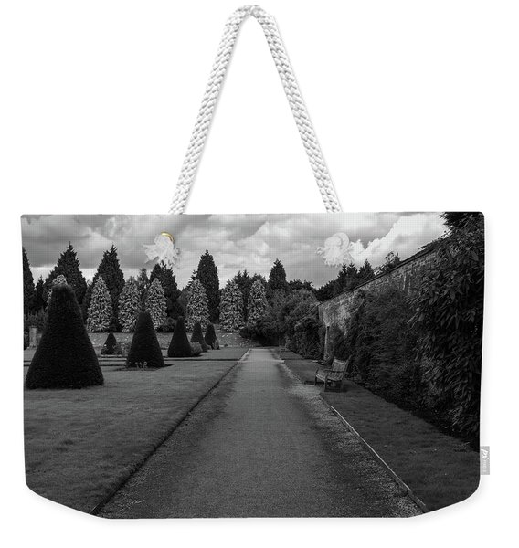 Weekender Tote Bag featuring the photograph Newstead Abbey Country Garden Gravel Path by Scott Lyons