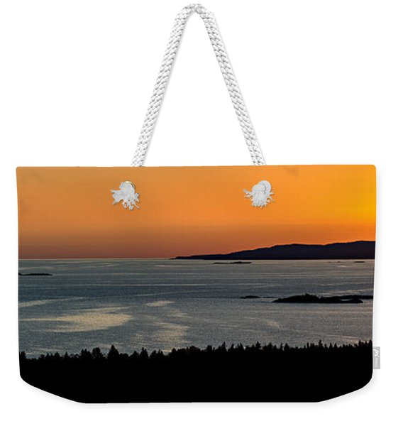 Weekender Tote Bag featuring the photograph Neys Horizon by Doug Gibbons
