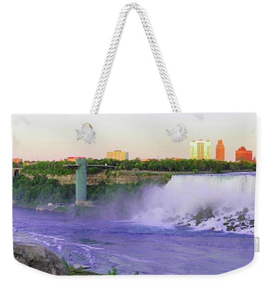 Niagara Falls At Dusk Weekender Tote Bag