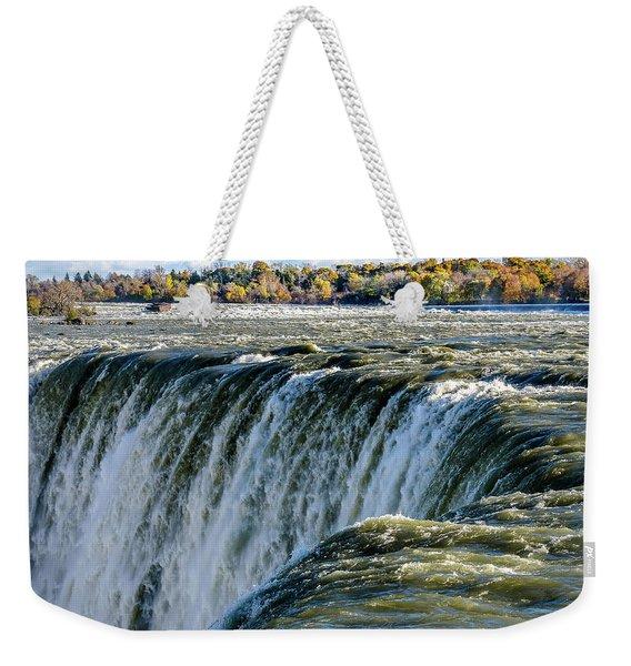 Niagara Falls In Autumn Weekender Tote Bag