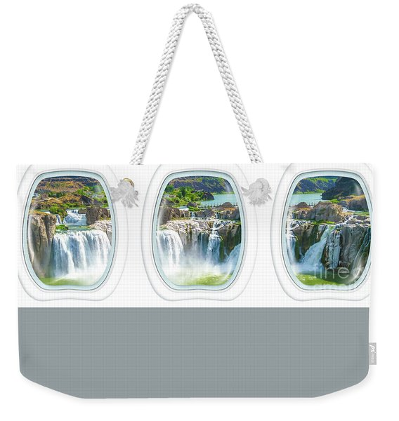 Weekender Tote Bag featuring the photograph Niagara Falls Porthole Windows by Benny Marty