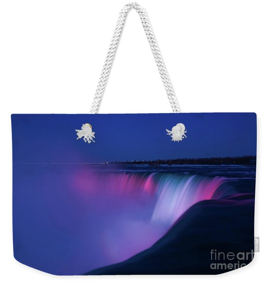Niagara Falls Red White And Blue Weekender Tote Bag