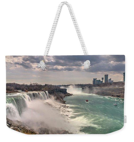 Niagra Waterfalls Weekender Tote Bag