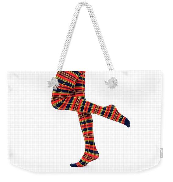 Nice Legs In Bright Fancy Tights Weekender Tote Bag