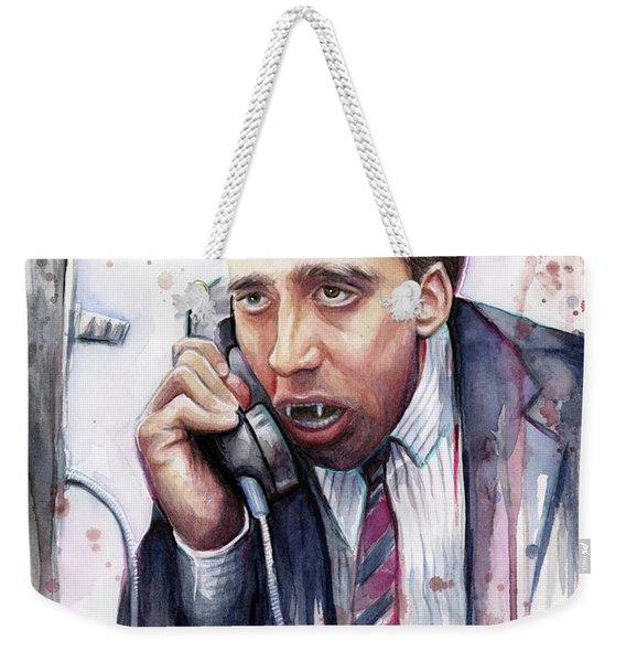 Nicolas Cage A Vampire's Kiss Watercolor Art Weekender Tote Bag
