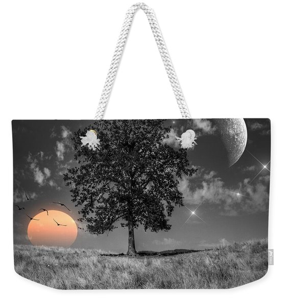 Night And Day Weekender Tote Bag