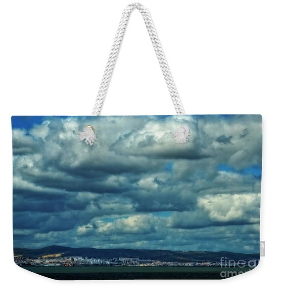 Night Falls On The Tagus River - Portugal Weekender Tote Bag