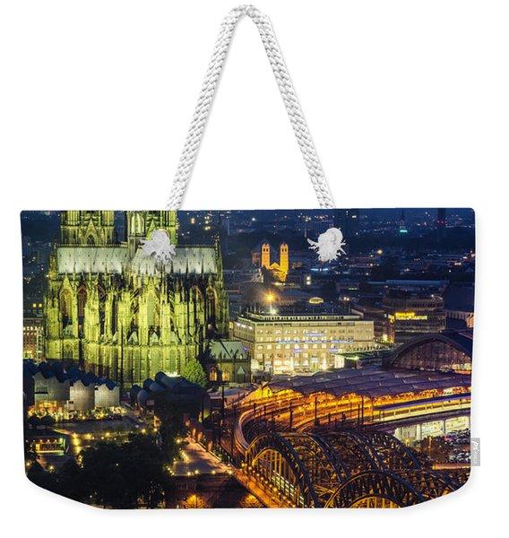 Night Falls Upon Cologne 1 Weekender Tote Bag