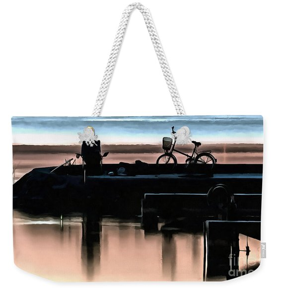 Night Fisherman Weekender Tote Bag