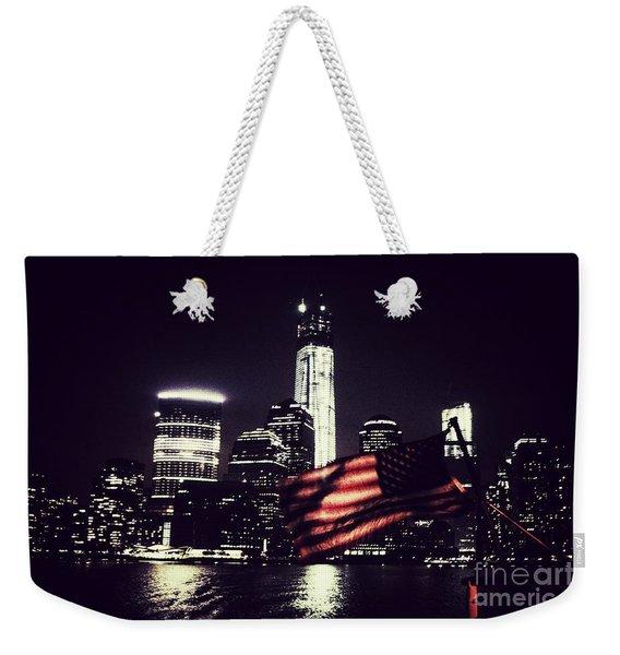 Night Flag Weekender Tote Bag