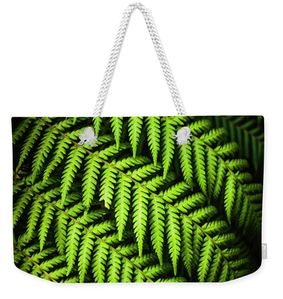 Night Forest Frond Weekender Tote Bag