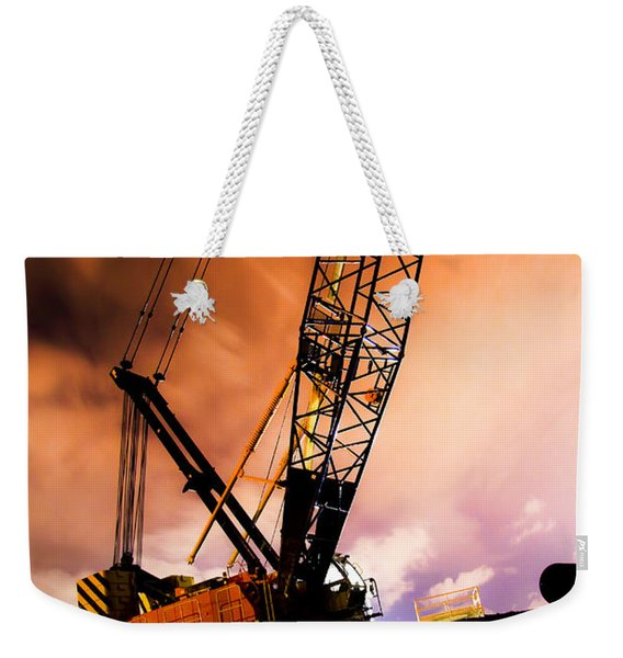 Night Infrastructure Building Construction Weekender Tote Bag
