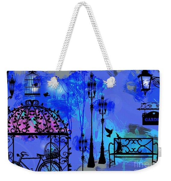 Night Love Garden  Weekender Tote Bag