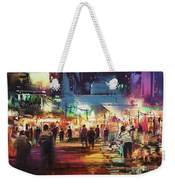 Night Market Weekender Tote Bag