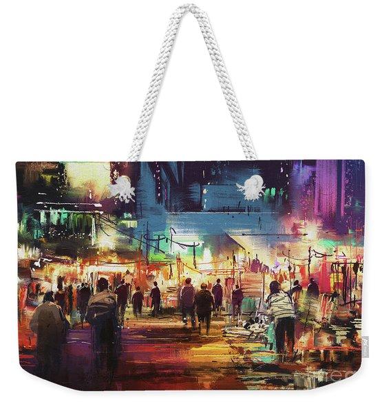 Night Market Weekender Tote Bag