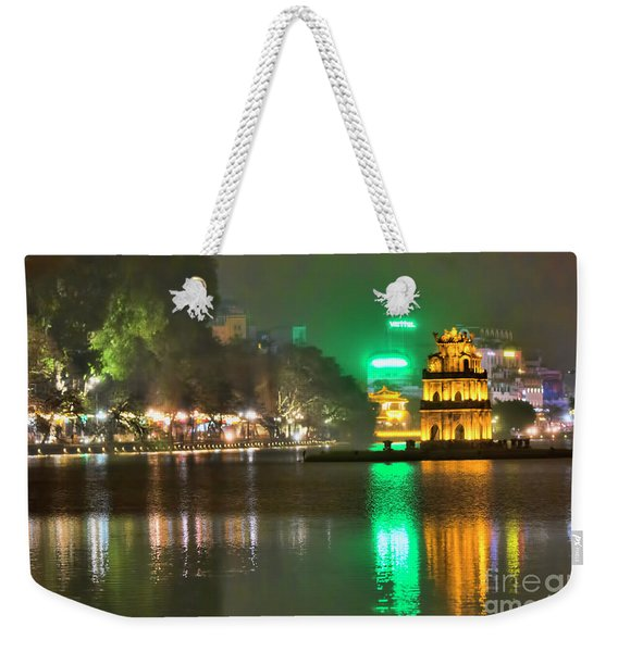 Night Moods Turtle Tower Hanoi Weekender Tote Bag